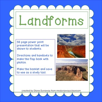 Landforms Power Point and Flap Book