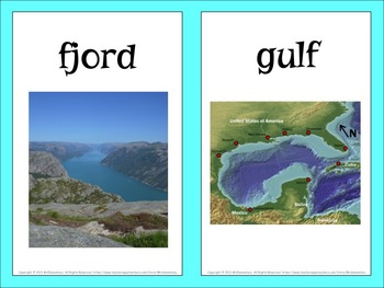 Landform Vocabulary PowerPoint