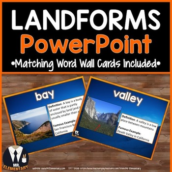 Landform Vocabulary PowerPoint