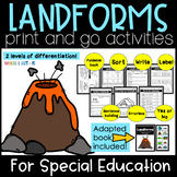 Landforms Print And Go Activities For Special Education