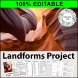 Landforms Research Project - 100% Editable