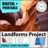 Landforms Project - PBL - Distance Learning