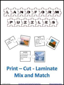 Landforms Puzzles