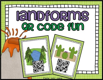 SCOOT Landforms QR Code Task Cards - 20 different landforms - common core