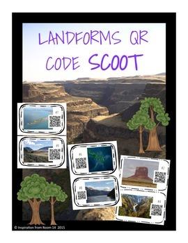 Landforms QR Scoot/Task Cards