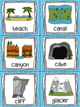 Landforms Read, Write, and Count the Room {Literacy and Math} {CCSS}