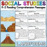 Landforms Reading Comprehension Passages K-2
