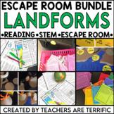 Landforms Reading and Escape Room Bundle