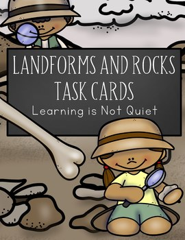 Landforms, Rock Cycle, Weathering and Erosion Task Cards