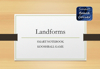 Landforms SMART Board Kooshball game