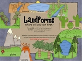 Landforms SMARTboard interactive activity- games and Discovery Education links