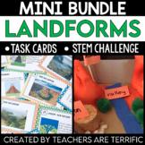 Landforms STEM Challenge and Task Cards Mini Bundle