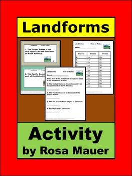 U.S. Landforms Task Cards