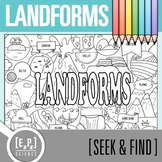 Landforms Seek and Find Science Doodle Page