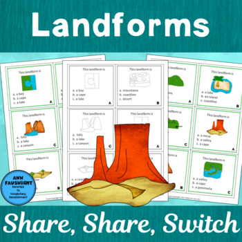 Landforms Share, Share, Switch Game