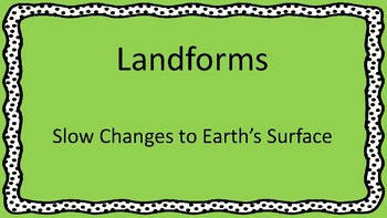 Landforms: Slow Changes to Earth's Surface