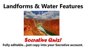 Landforms Socrative Quiz