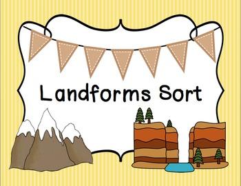 Landforms Sort