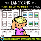 Landforms Sorts | Cut and Paste Worksheets