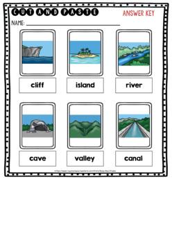Landforms Sorts | Cut and Paste Worksheets