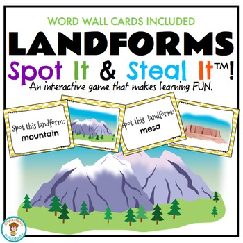 Landforms Spot It & Steal It Game (& WORD WALL)