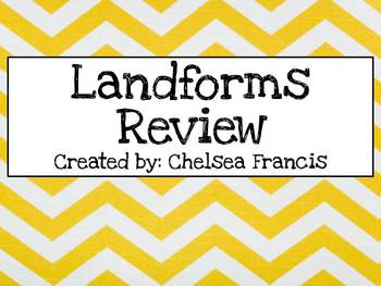 Landforms Study Guide for upper elementary
