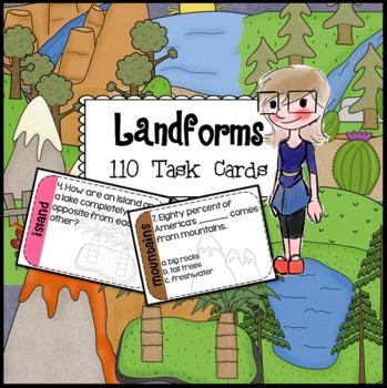 SCOOT Landforms Task Cards - 110 task cards for 11 different landforms