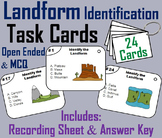 Bodies of Water and Landforms Task Cards (Geology Unit)
