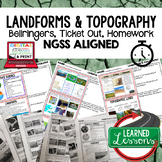 Landforms & Topography Warm Ups & Bell Ringers, NGSS 6-8 Science, Digital