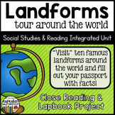 Landforms Close Reading and Lapbook
