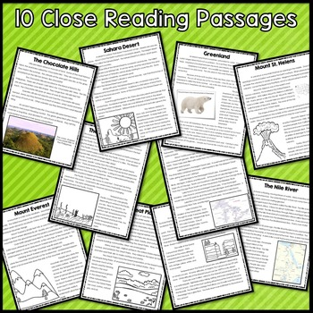 Landforms Close Reading and Lapbook