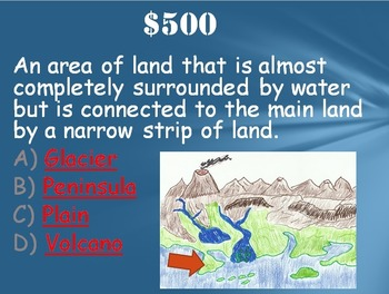 Geography: Land Forms Trivia Game:  Fun Stuff!
