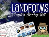 Landforms Unit - No Prep