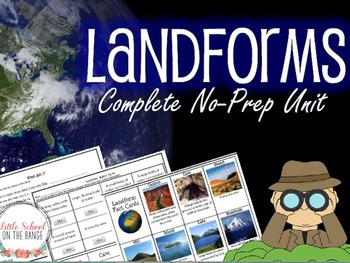 Landforms Unit - No Prep