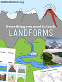 Landforms Unit: Flipbook, Games, Activities, Geography, Po