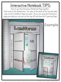 Landforms Unit for Kindergarten and 1st Grade Week