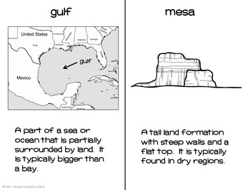 Landforms Unit with Booklets, Comprehension, and Photo PDF Presentation