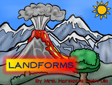 Landforms Unit with Booklets, Comprehension, and Photo PDF