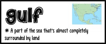 Landforms Vocabulary Cards [48]