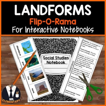 Landforms Vocabulary Interactive Notebook