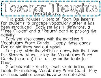 LANDFORMS Vocabulary - Rolling Fun!