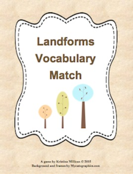 Landforms Vocabulary Matching