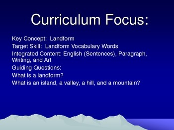Landforms Vocabulary Interactive Mini-Lesson