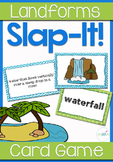 Landforms Vocabulary Review Slap-It! Card Game