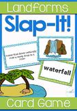 Landforms Vocabulary Review Slap-It! Card Game