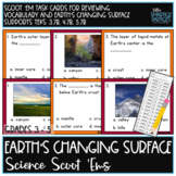 Landforms Vocabulary: Science Scoot 'ems / Task Cards