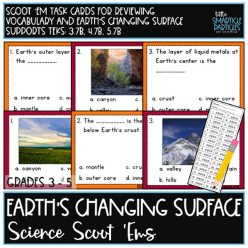Landforms Task Cards: Science Scoot 'ems
