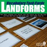 Landforms Vocabulary Task Cards