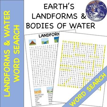 "Landforms ""Word Search"""