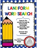 Landforms Word Search